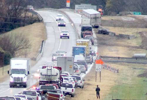 Semi accident closes I-40 eastbound Friday